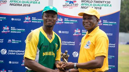 Nigeria v Gambia Player of the Match: Ademola Onikoyi