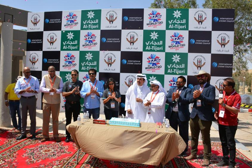The members of the Kuwait Cricket Association welcomed ICC officials along with the teams