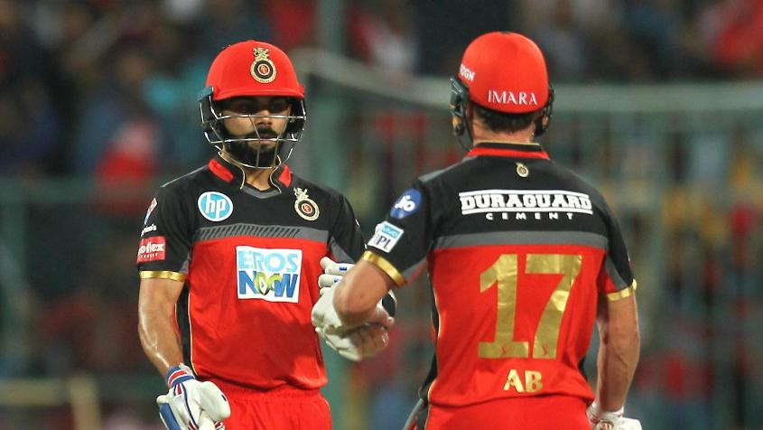 Kohli and de Villiers added 63 runs for the third wicket