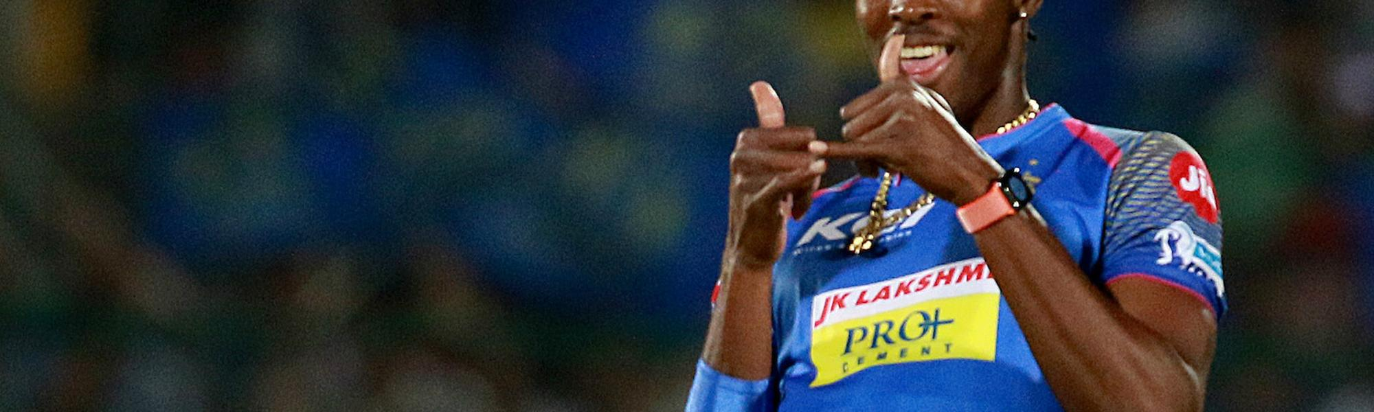 Jofra Archer returned 3/22 on his IPL debut