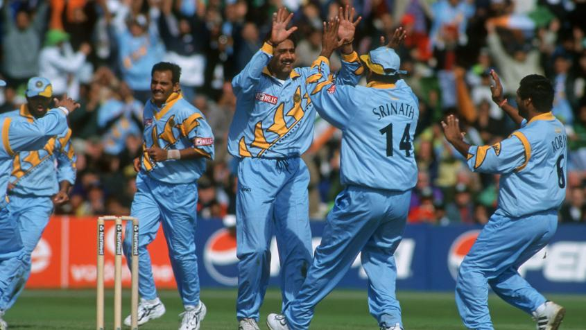 Venkatesh Prasad took five wickets while Anil Kumble picked up two to help India win by 47 runs