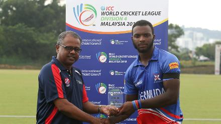 Kamau Leverock of Bermuda is the Player of the Match