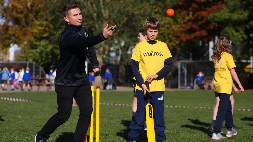 'I am delighted to be part of the World Cup Cricketeers programme and I urge everyone to apply to be a volunteer at next summer's showpiece event.'