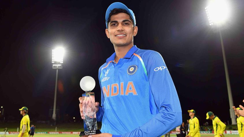 Shubman Gill was the Player of the Tournament at the ICC Under-19 Cricket World Cup 2018