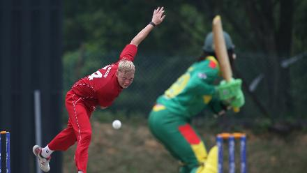 Denmark v Vanuatu: Andy Bulow of Denmark bowls