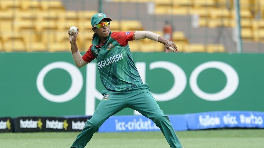 Salma Khatun picked up one wicket for Bangladesh Women