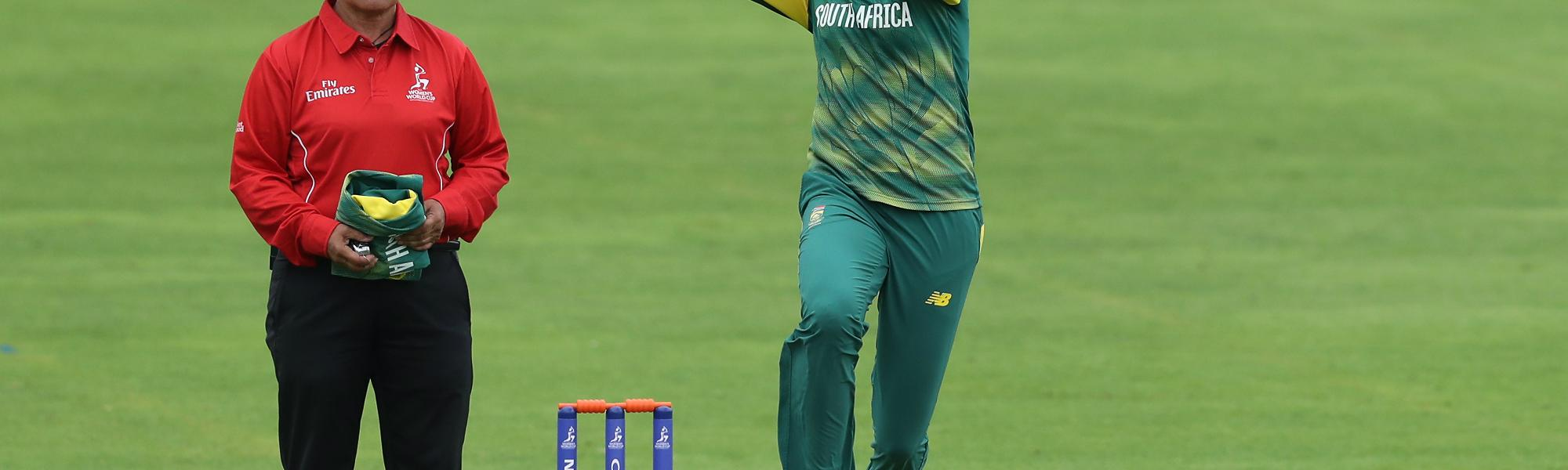 Ayabonga Khaka picked up three wickets for South Africa