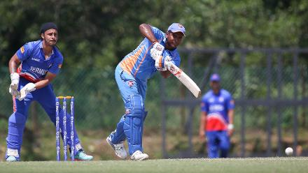 Anwar Arudin plays a captain's hand with a 49-ball 60 to get his side past the 250-mark
