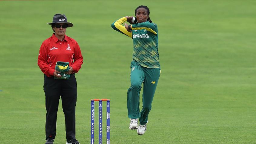 Ayabonga Khaka picked up three wickets for South Africa