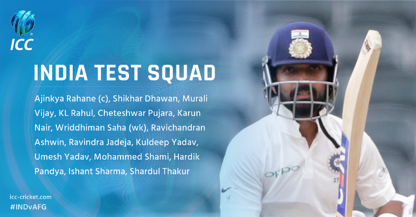 India's Test squad in full