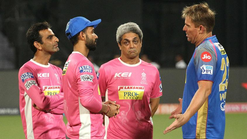 Shane Warne is a mentor with Rajasthan Royals at IPL 2018