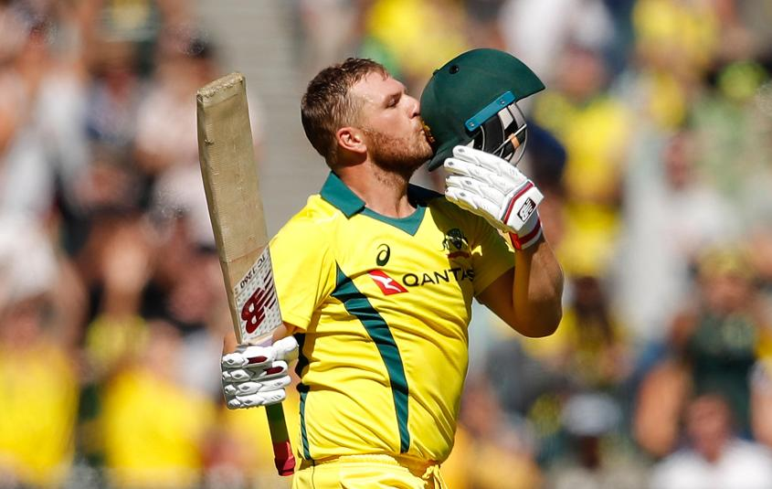 Finch became the fastest Australian to reach 10 ODI hundreds