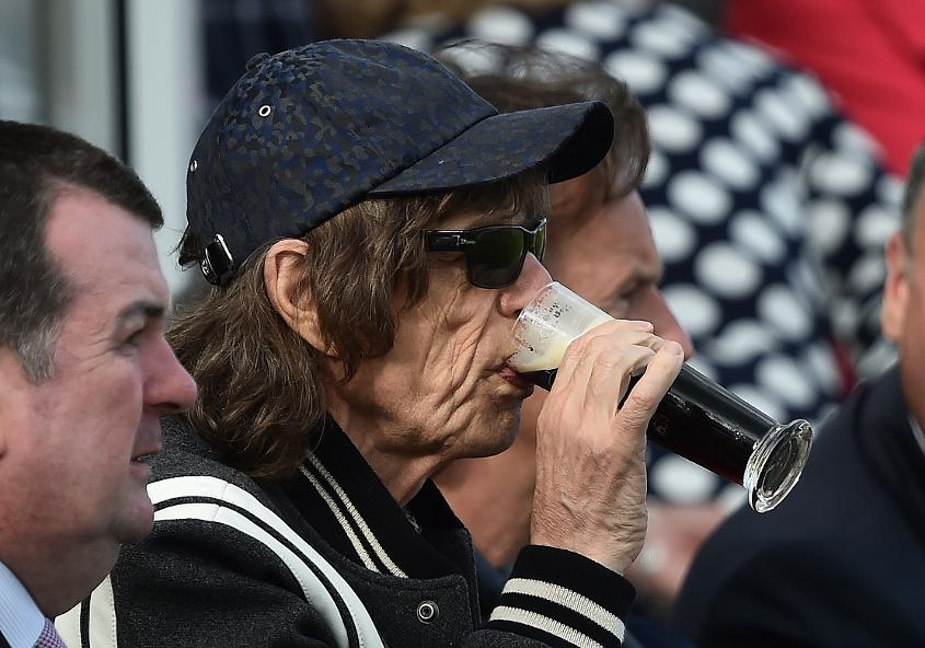 Mick Jagger was one of many who came to watch Ireland's first Test match