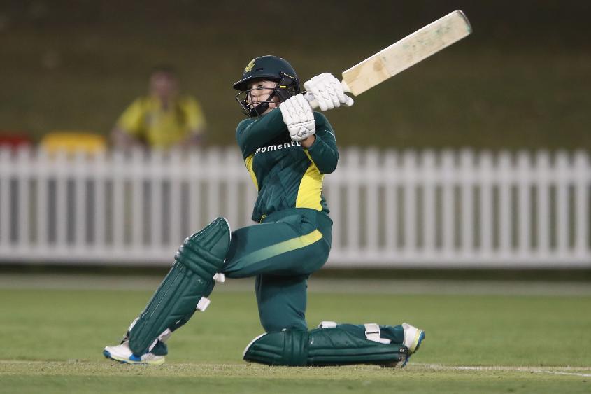 Dane van Niekerk struck the only six of South Africa's innings