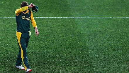 The World Cup 2015 disappointment: De Villiers was inconsolable after South Africa lost in the semi-final