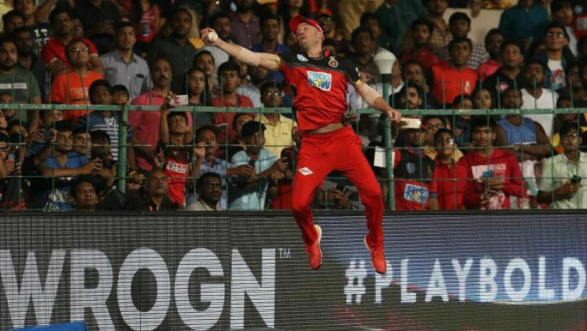 The Spiderman Catch: De Villiers was in outstanding batting and fielding form in the 2018 IPL