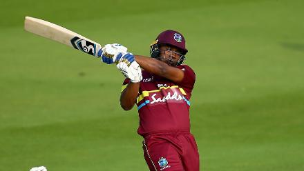 Evin Lewis was the Player of the Match for his 26-ball 58