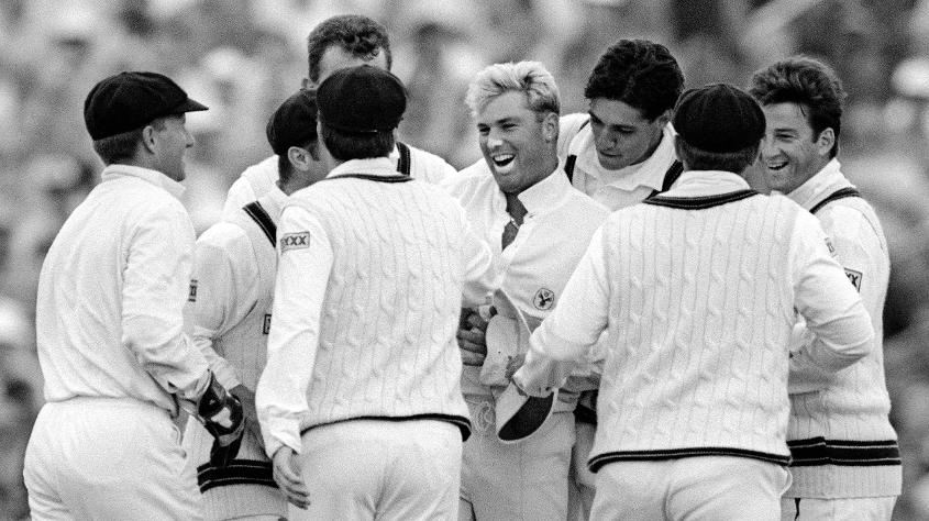 It was Shane Warne's first delivery in Ashes cricket ...