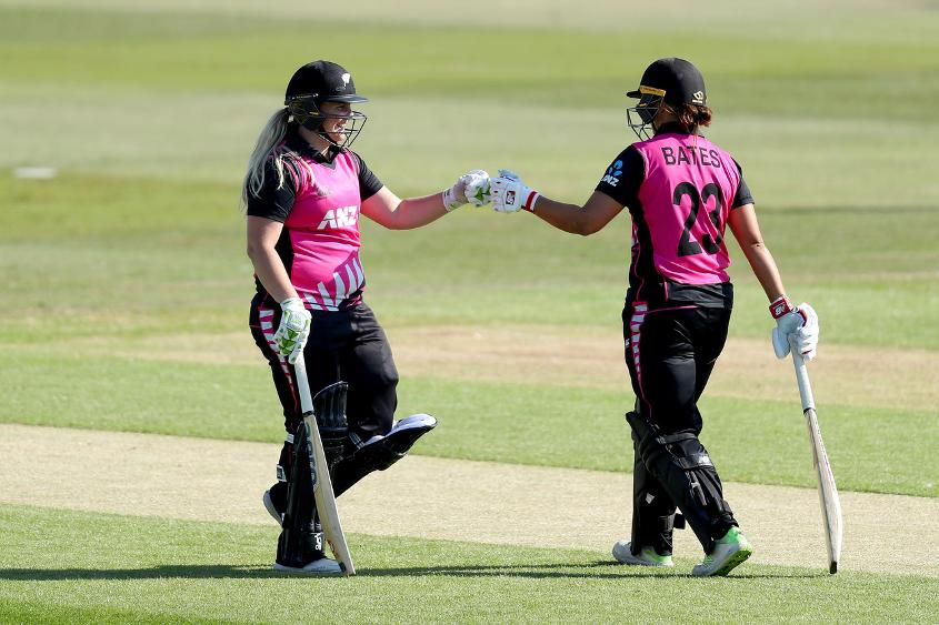 Watkin and Bates shared an unbeaten 142-run partnership