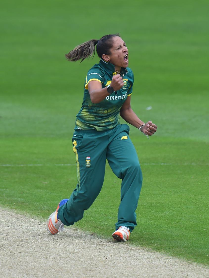 Ismail celebrates in 1st ODI against England