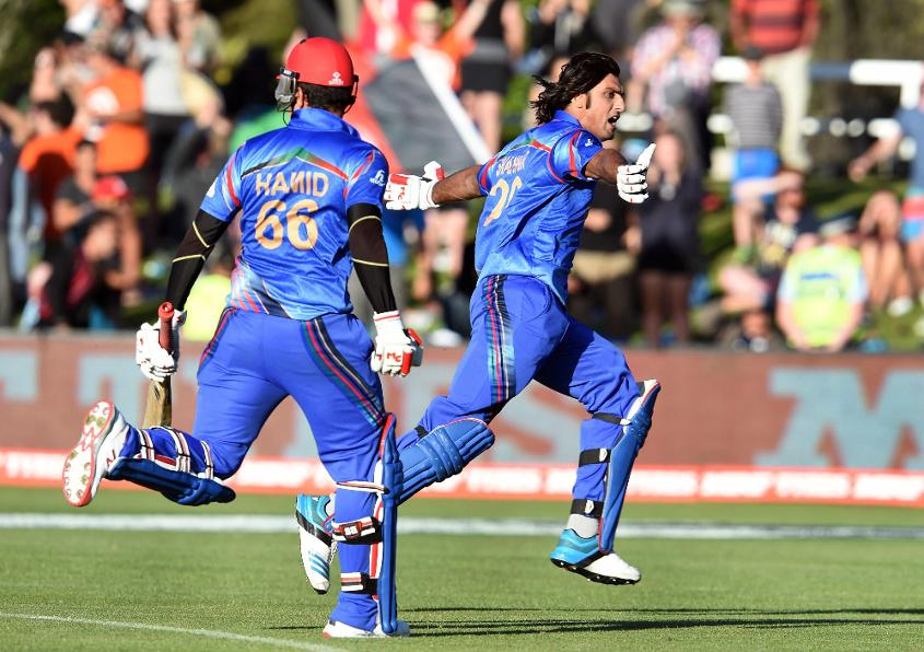 Afghanistan recorded their first ever win in a World Cup match by beating Scotland by just one wicket