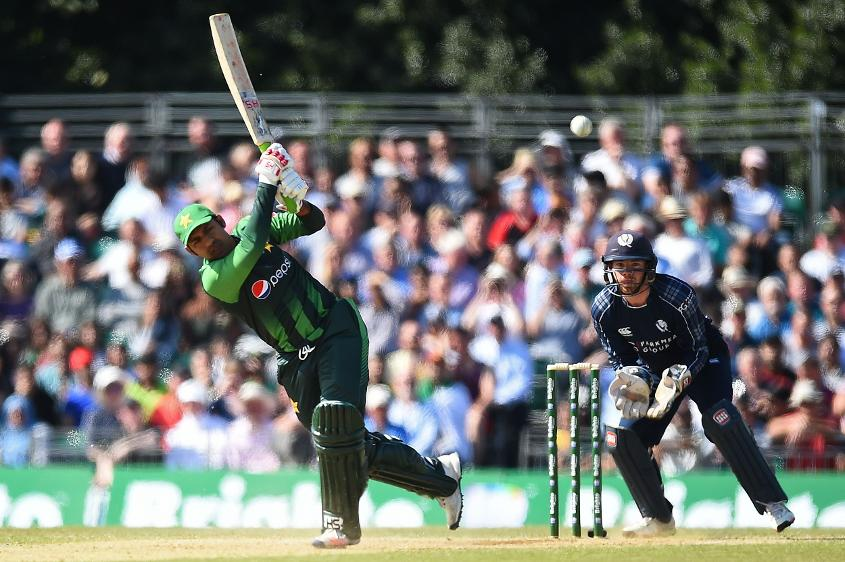 Sarfraz Ahmed hit 10 fours and three sixes in his innings