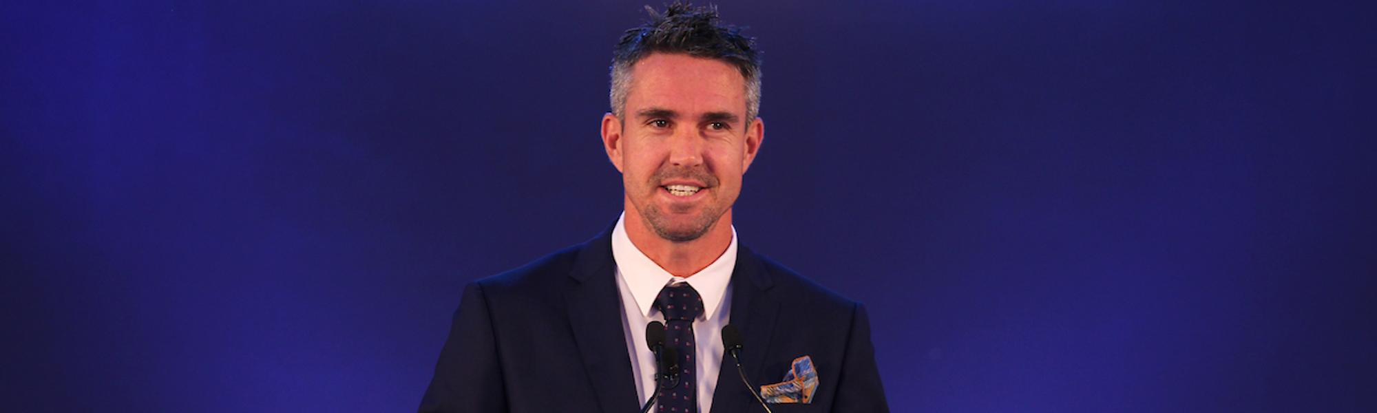 Kevin Pietersen at the MAK Pataudi Memorial Lecture, 2018