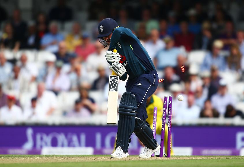 Jason Roy was bowled by Billy Stanlake for a duck