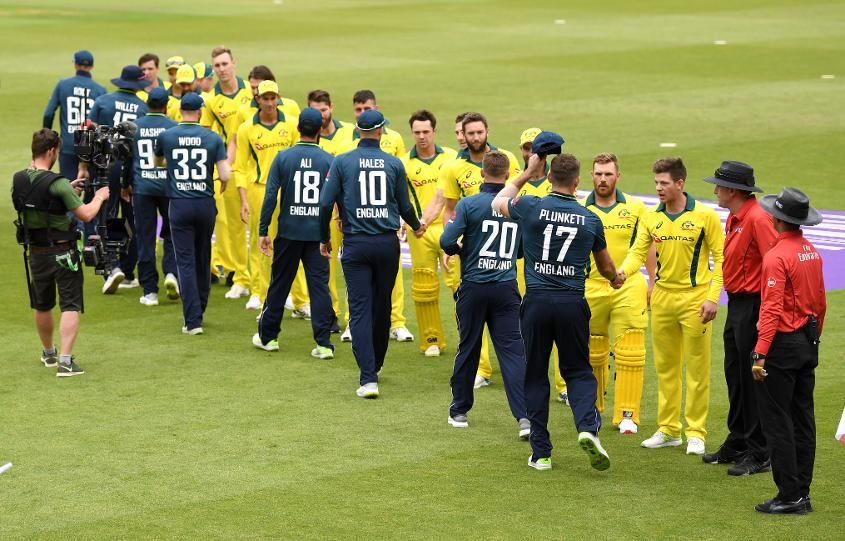 At Tim Paine's request, the teams engaged in a pre-series handshake
