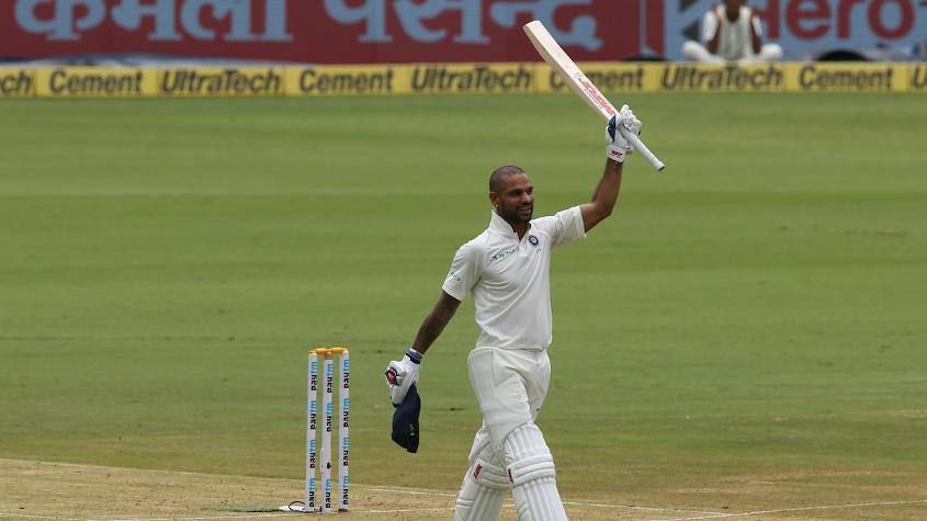 Shikhar Dhawan became the first Indian to score a century before lunch on the first day of a Test