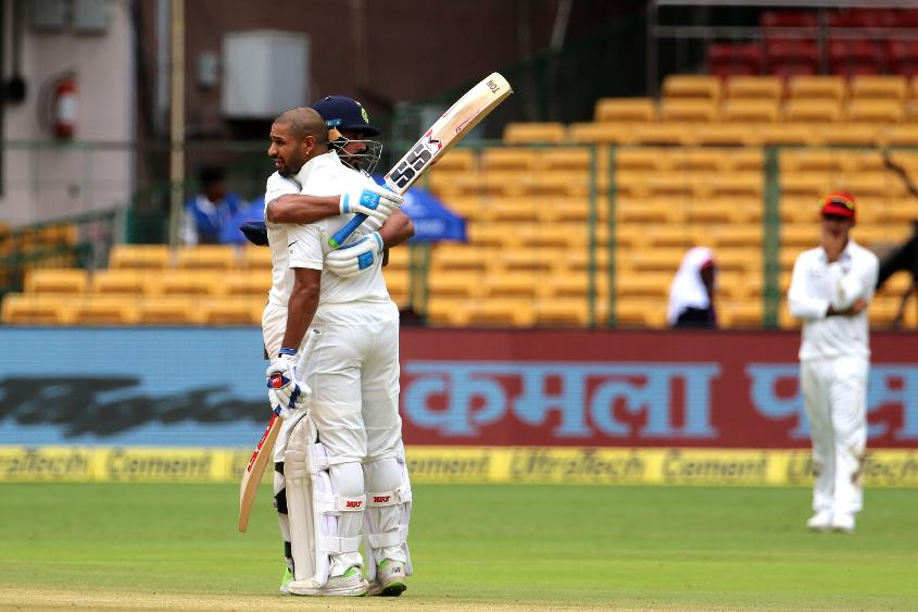 Individual centuries in the only Test against Afghanistan helped Vijay and Dhawan make significant movement on the rankings table