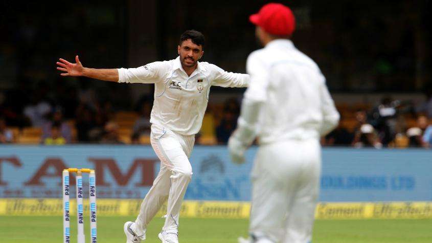 Yamin Ahmadzai became Afghanistan's first wicket-taker in Tests