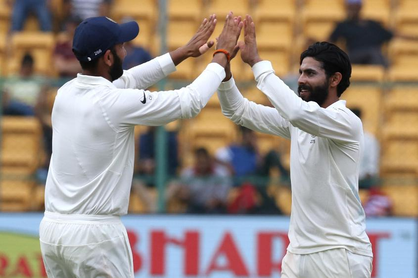 Ravindra Jadeja was the most successful of the Indian bowlers with six wickets over two innings