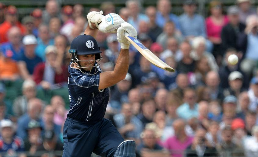 Kyle Coetzer led from the front for Scotland, top scoring with 52