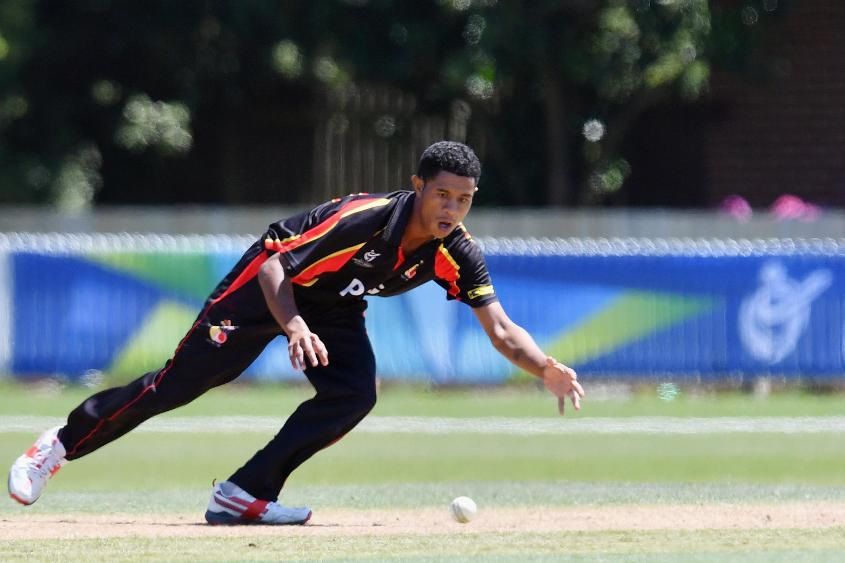 James Junior Tau impressed with his bowling at this year's ICC Under 19 Cricket World Cup EAP Qualifiers