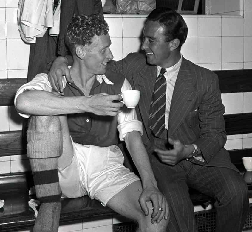 Denis Compton, batsman extraordinaire, pictured during his Arsenal days
