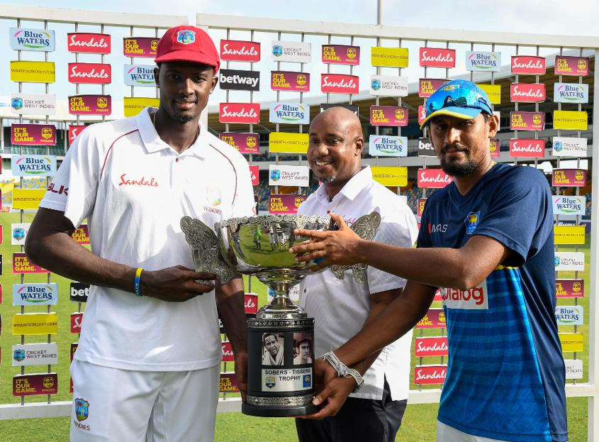 Jason Holder and Suranga Lakmal shared the trophy