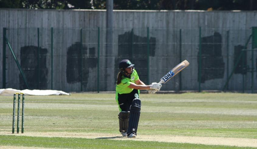 The experienced Isobel Joyce top-scored for Ireland with a run-a-ball 41