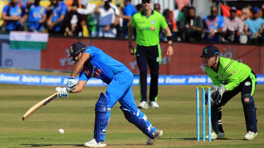 Rohit Sharma has scored fifties in both the T20I he played against Ireland (Photo - ICC)