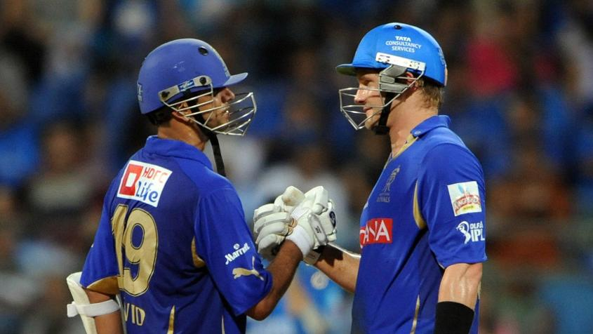 Watson and Dravid played together at Rajasthan Royals in the Indian Premier League