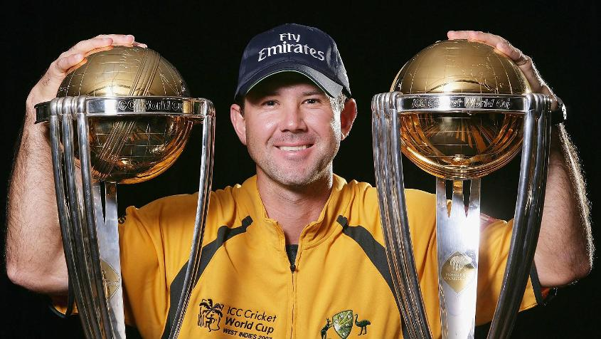 Ponting starred with a fantastic century as Australia won the 2003 World Cup final