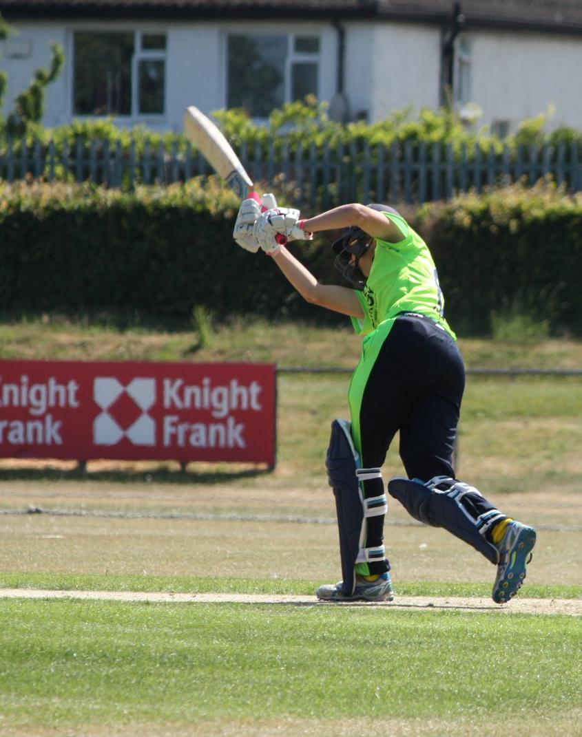 Gaby Lewis makes her second T20I fifty