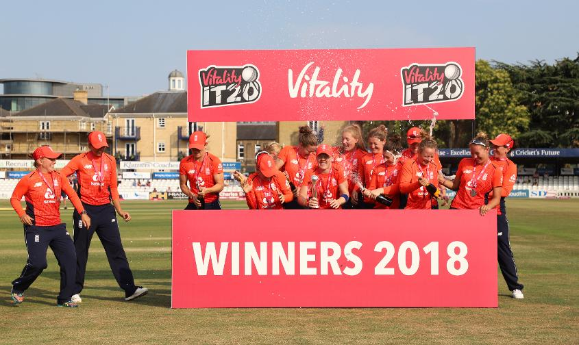 England won the tri-series final after beating New Zealand by seven wickets