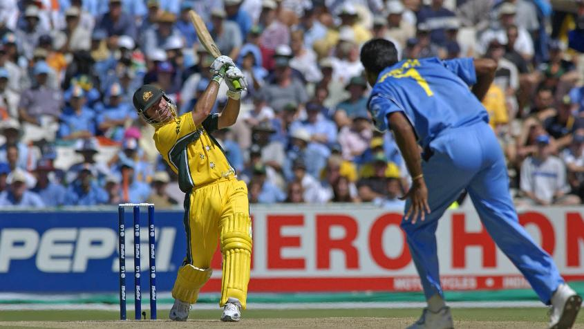 Ponting smashed a 121-ball 140* to lead Australia to victory in the 2003 final