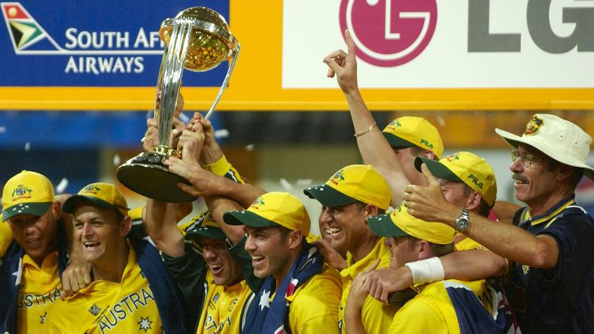 The win in 2003 was Australia's third, Ponting's second, and his first as captain