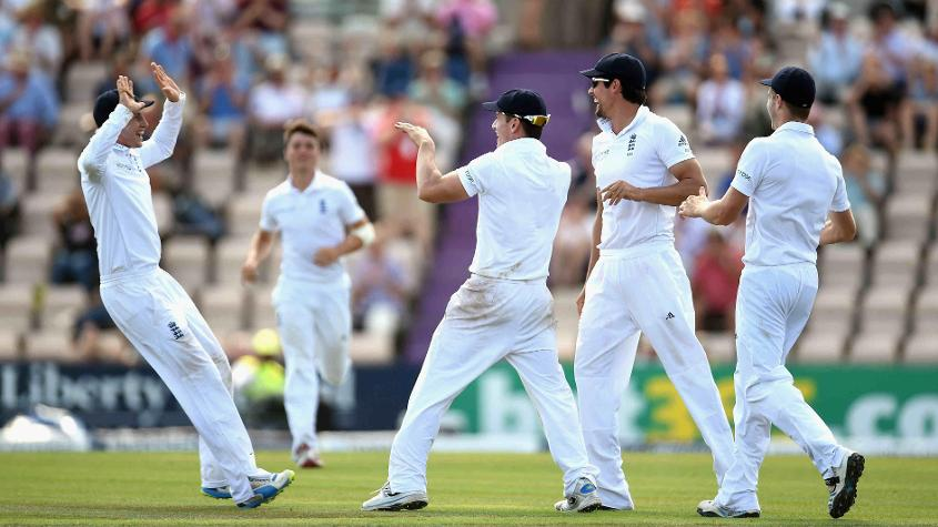 Terry (c) came on as a substitute fielder during England's third Test against India in 2014