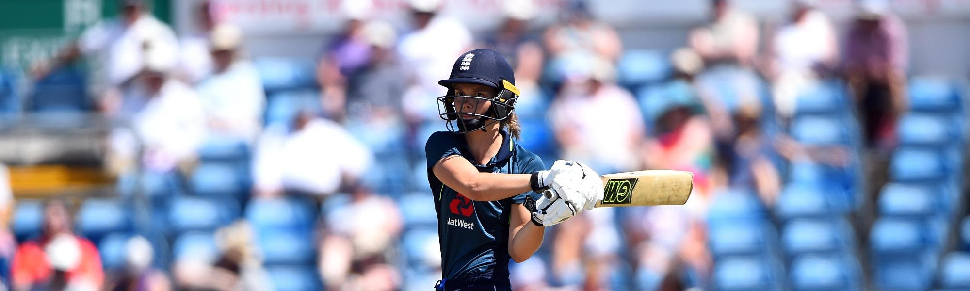 Amy Jones makes 63 against New Zealand