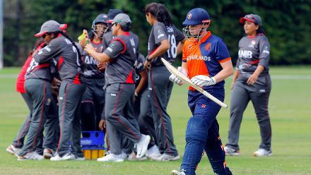 Match 3: Netherlands Women v United Arab Emirates Women, Group A, ICC Women's World Twenty20 Qualifier at Utrecht, 7th July 2018.
