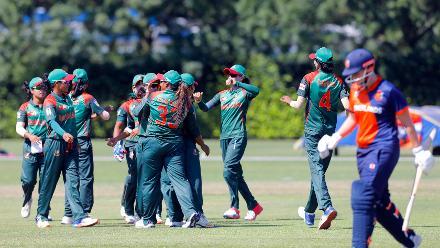 Match 7: Netherlands Women v Bangladesh Women, Group B, ICC Women's World Twenty20 Qualifier at Utrecht, 8th July 2018.