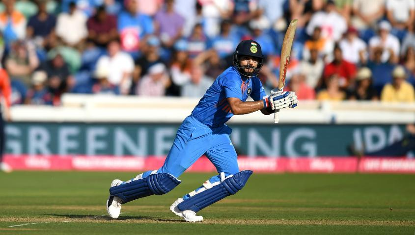 Virat Kohli leads the batting charts in ODIs